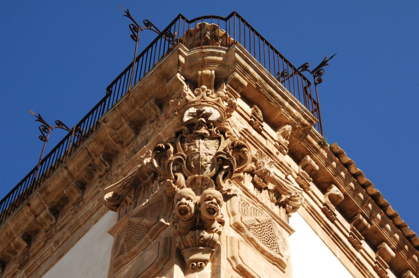 palazzo beneventano a Scicli - partimonio dell'UNESCO